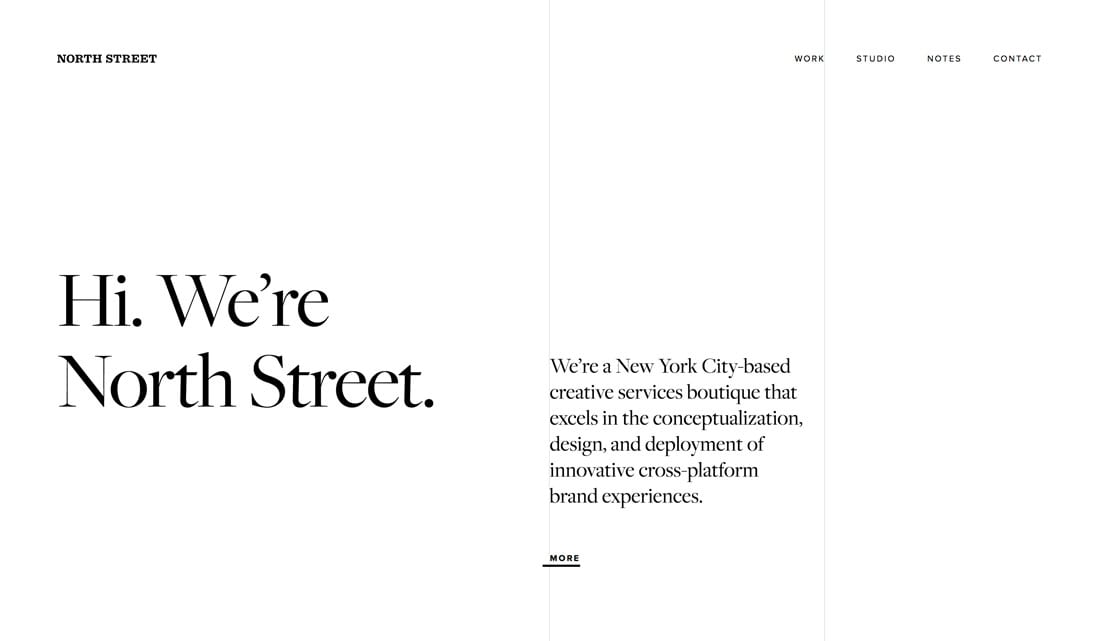 north-street Black and White Design: 10 Stunning Examples (+ Tips) design tips