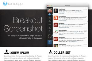 Three Quick Design Tricks: Break Out Screenshots, Easy Starbursts and Vector Grunge Textures