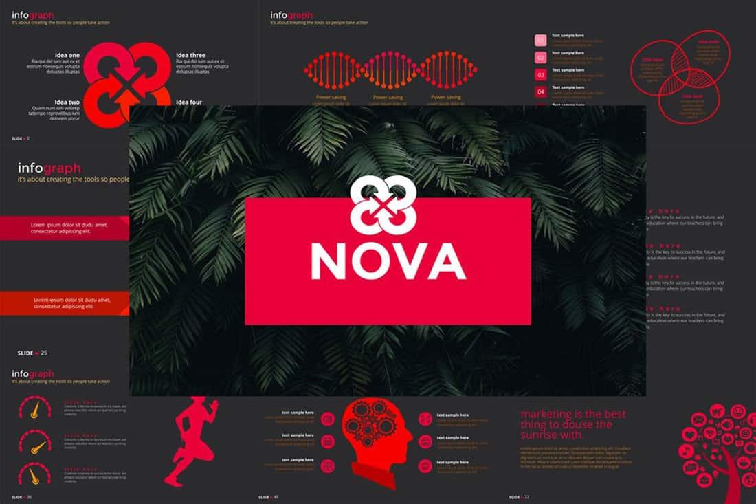 nova 20 Stylish PowerPoint Color Schemes design tips