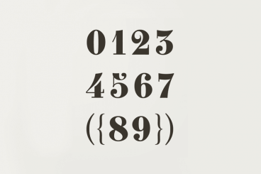 40+ Best Number Fonts for Displaying Numbers