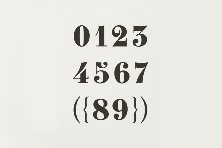 30 Best Number Fonts For Displaying Numbers