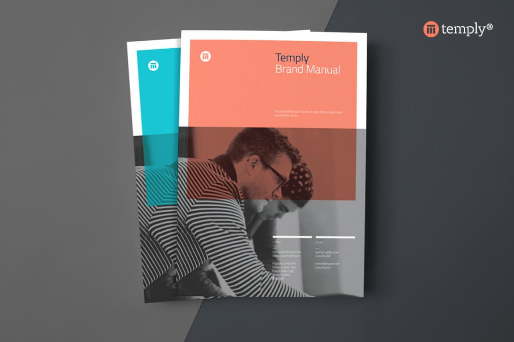 Modern Corporate Brochure Templates Design Shack - Two page brochure template