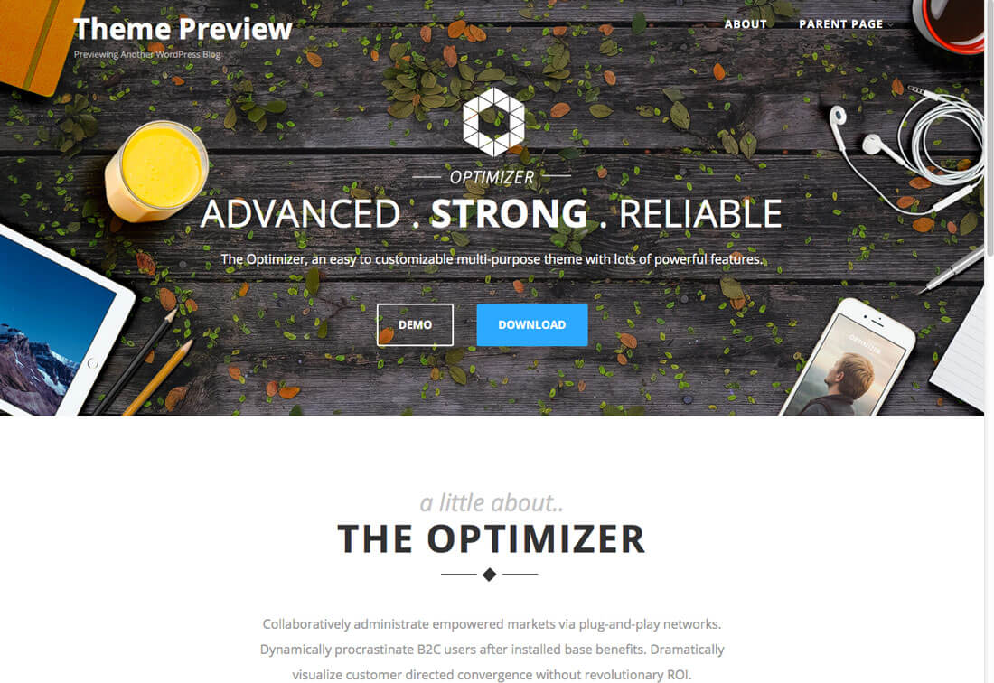 optimizer wordpress theme designed to make website building easy optimizer