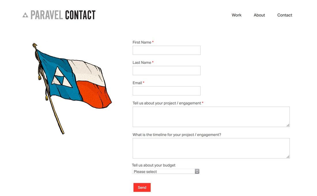 desain formulir kontak