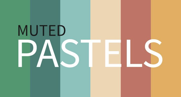 Current Color Trends Muted Pastels