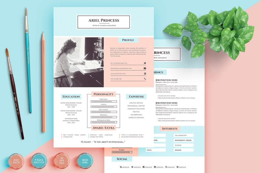 pastel-resume-1024x680 How Do You List Freelance Work on Your Resume? (We Have the Answer) design tips