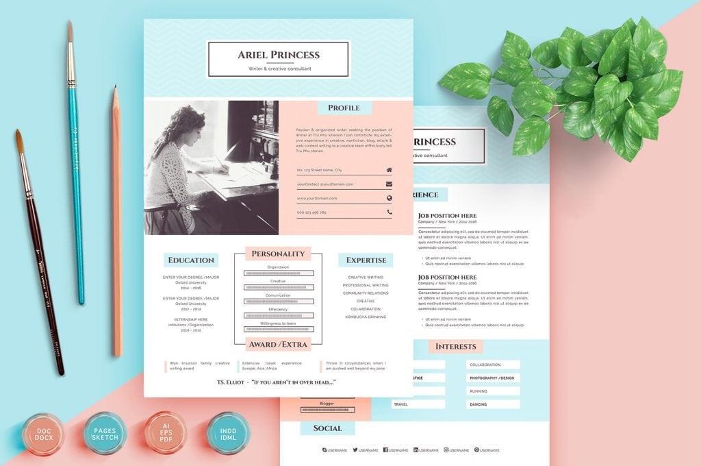 Comment listez-vous le travail indépendant sur votre CV? (Nous avons la réponse) pastel resume 1024x680