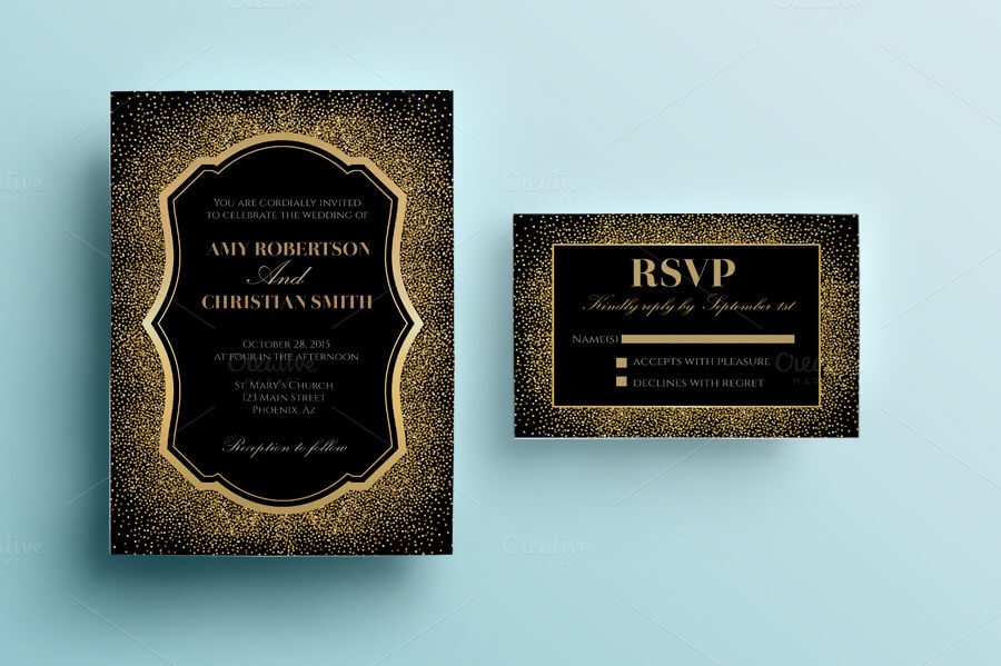 90 gorgeous wedding invitation templates design shack this invitation pack contains a wedding invitation 5 x 7 1 photoshop psd file ai eps rsvp card 5 x 35 1 photoshop psd file ai stopboris Gallery