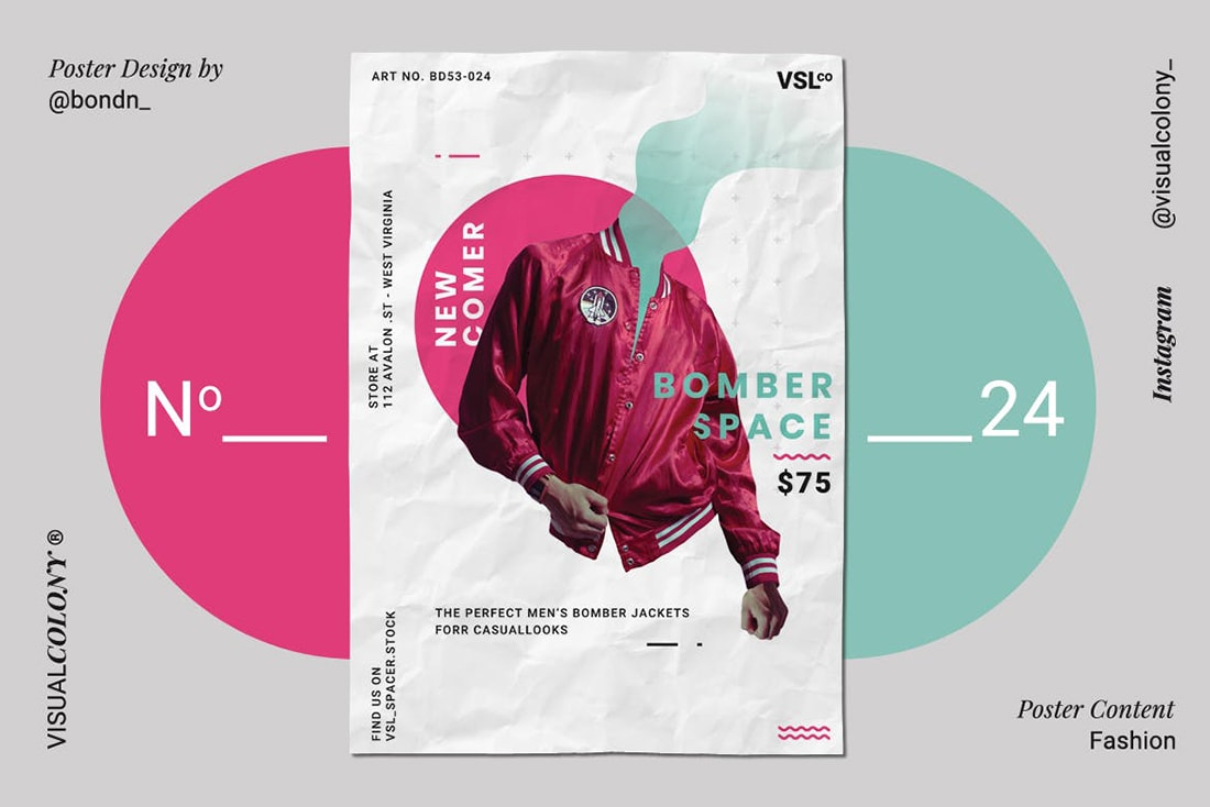 pink-poster 20 Stylish Poster Color Schemes design tips