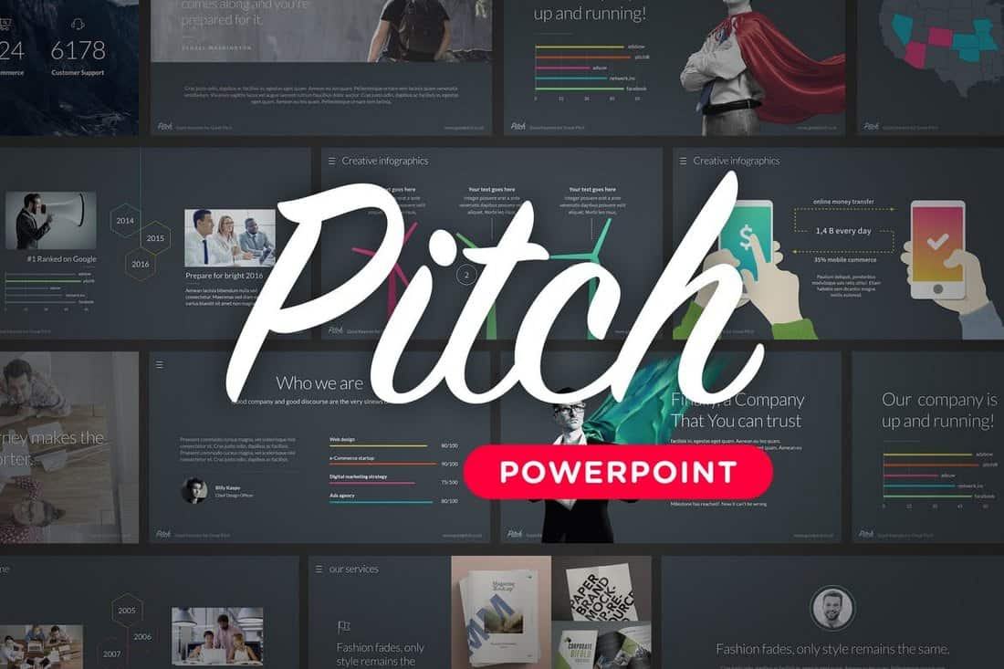 pitch-Startup Pitch Deck Modèle pour PowerPoint