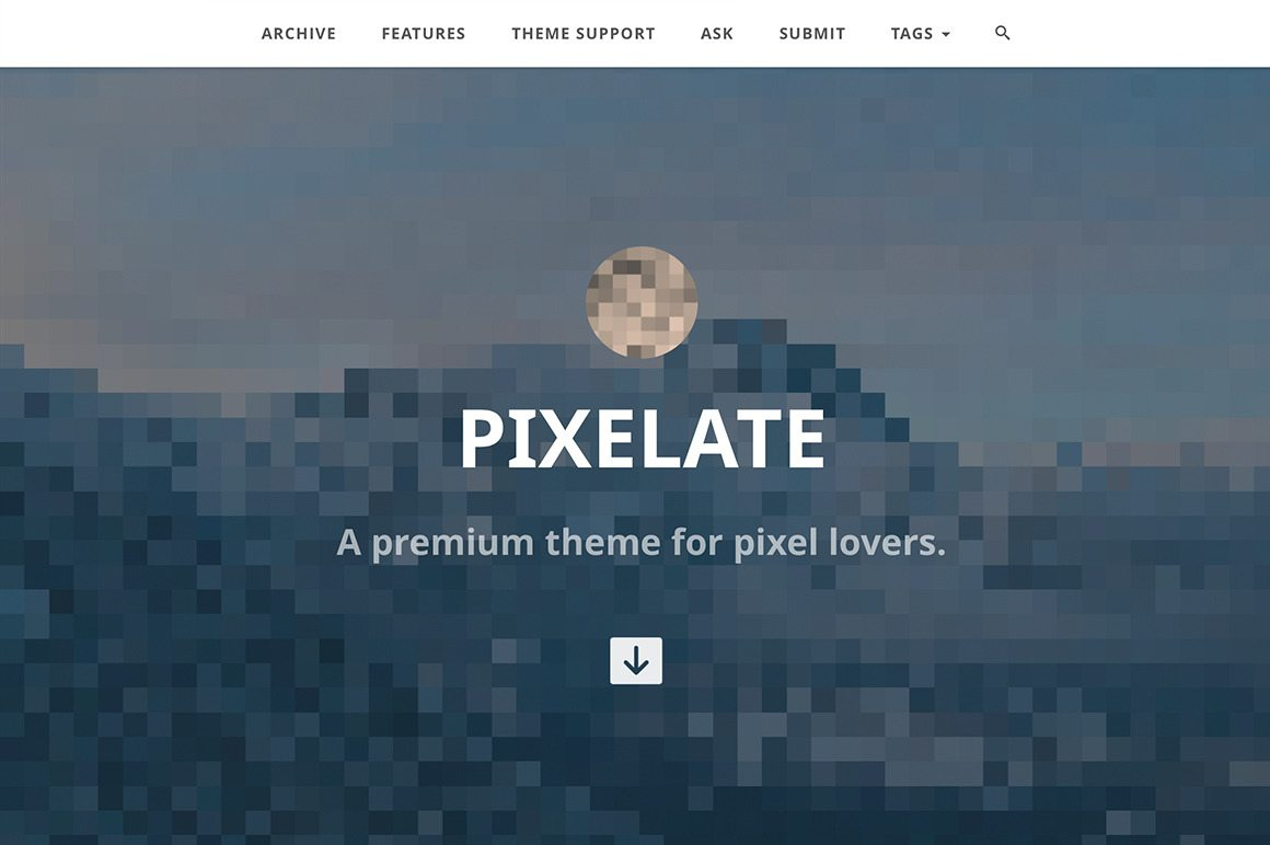 Pixelate Theme