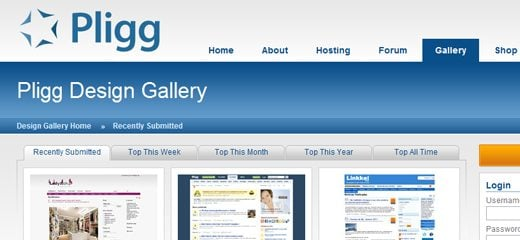 Pligg CMS Design Gallery