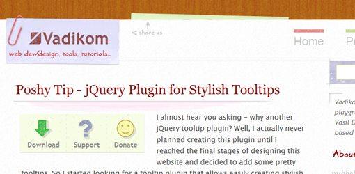 JavaScript PoshyTips with jQuery