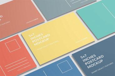 20+ Postcard Mockup Templates (Free & Pro)