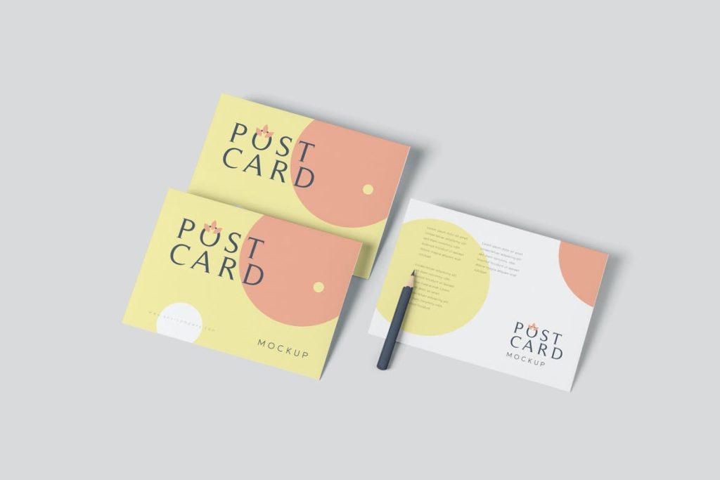 postcard-mockups-12-1024x683 20+ Postcard Mockup Templates (Free & Pro) design tips