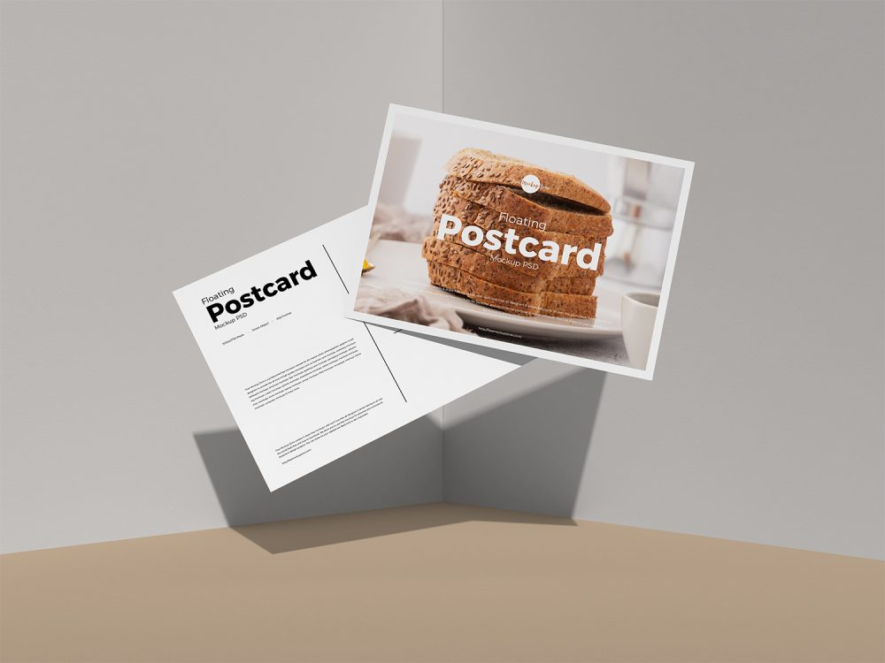 postcard-mockups-18 20+ Postcard Mockup Templates (Free & Pro) design tips