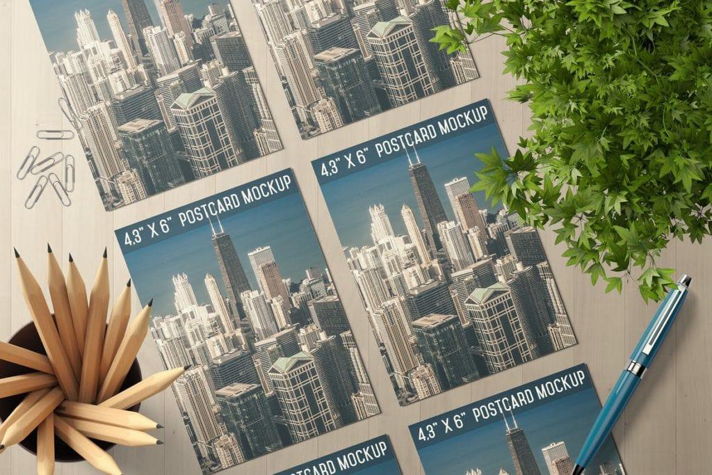 postcard-mockups-9-1024x683 20+ Postcard Mockup Templates (Free & Pro) design tips