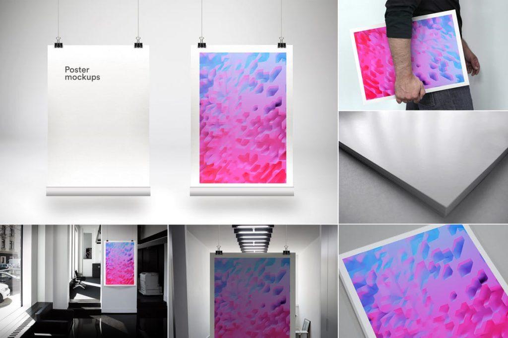 poster-mockups-10-1024x683 20+ Poster Mockup Templates (Free & Premium) design tips