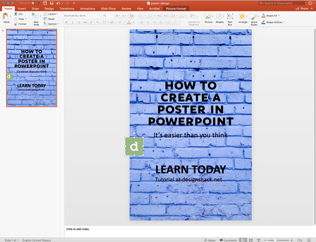 powerpoint-design How to Make a Poster in PowerPoint: 10 Simple Steps design tips