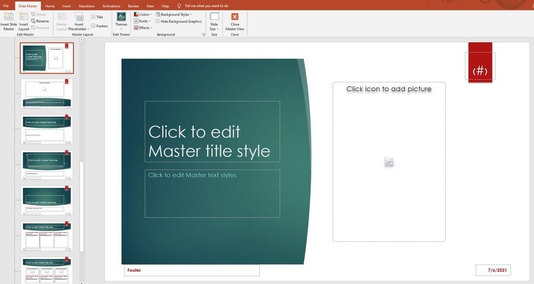 powerpoint master slides