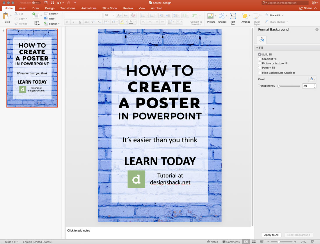 How To Make A Poster In Powerpoint 10 Simple Steps Design Shack