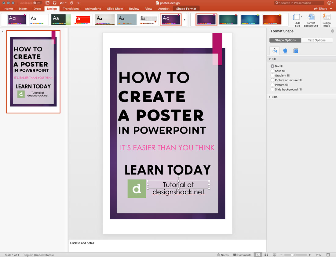 ppt-template How to Make a Poster in PowerPoint: 10 Simple Steps design tips