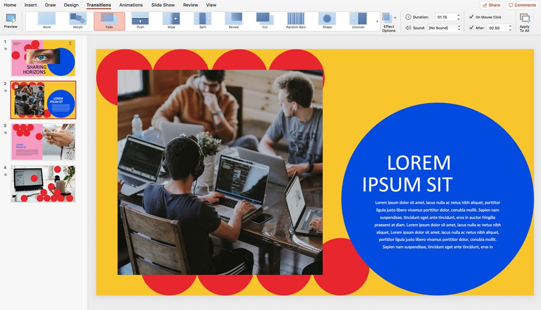 how to loop powerpoint