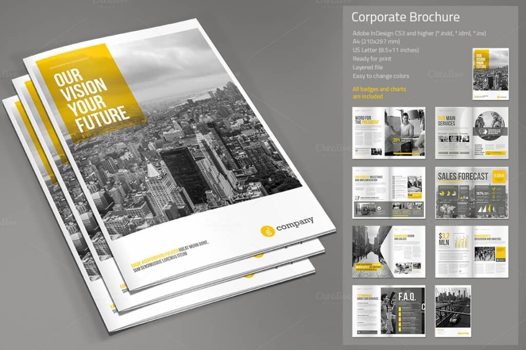 Corporate Brochure Sample  Template