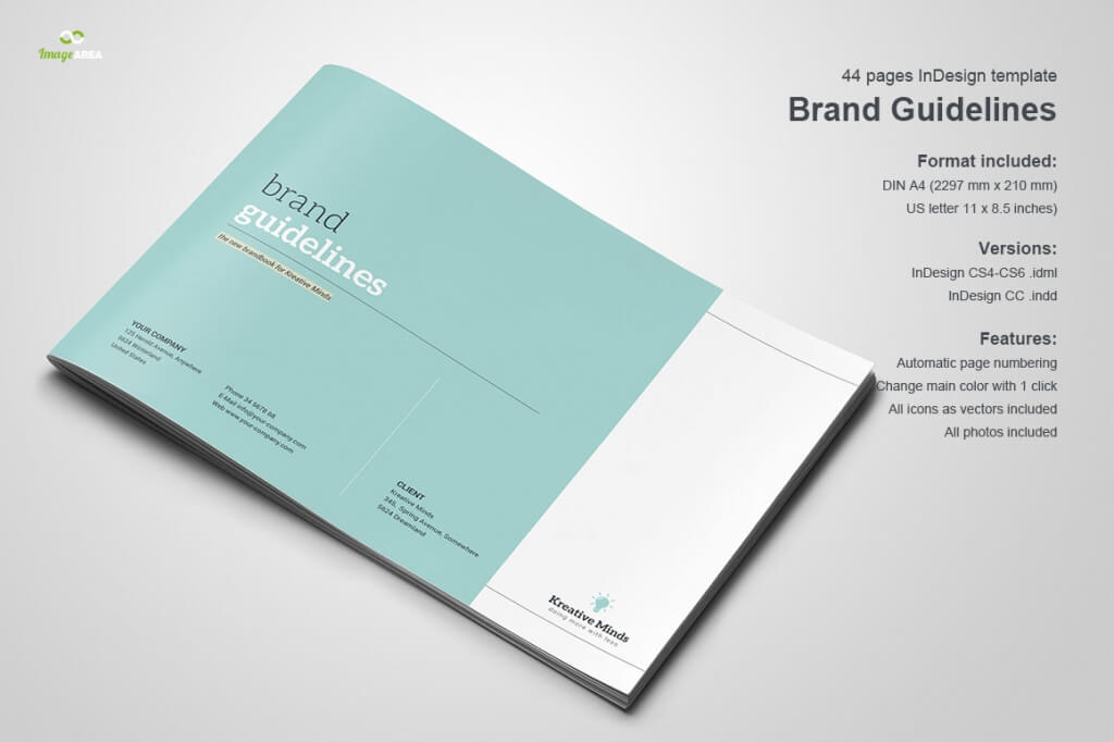 70 modern corporate brochure templates design shack for Free brand guidelines template