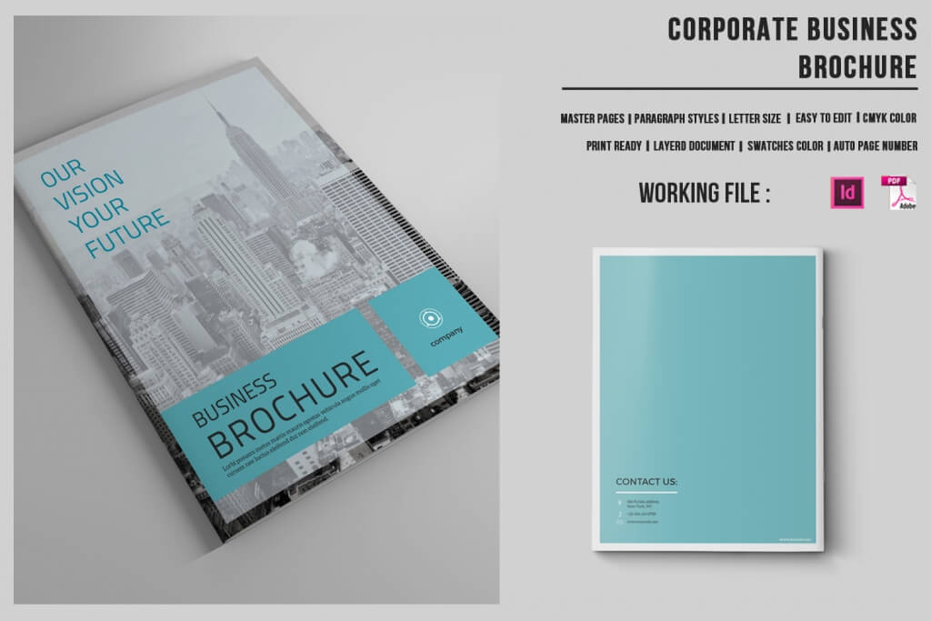 Modern Corporate Brochure Templates Design Shack - 1 page brochure template