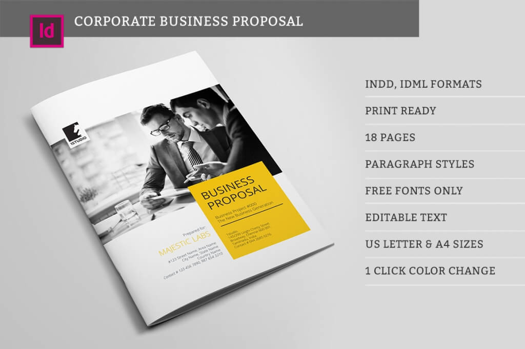 a simple and professional project proposal template for creative businesses created in adobe indesign it comes in international a4 size