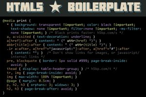 6 Things I Learned About Print Stylesheets From HTML5 Boilerplate