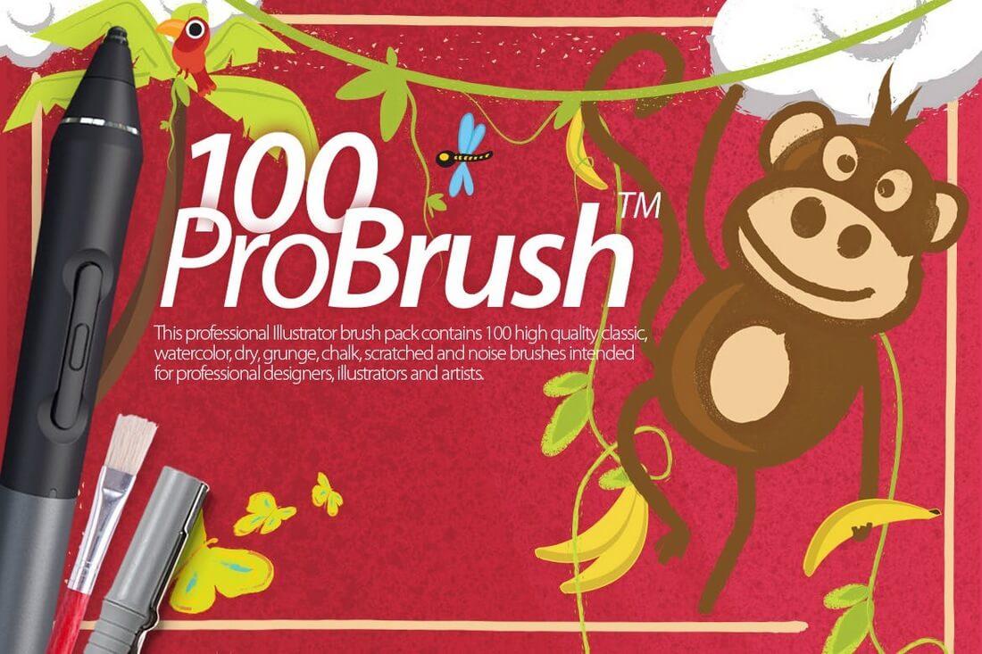 pro-brush-100 30+ Best High-Quality Photoshop & Illustrator Brushes design tips