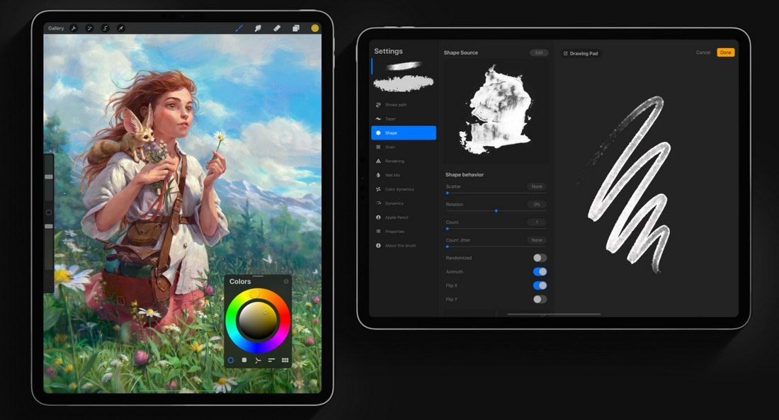 procreate-2-1 Best Drawing Software for Digital Artists (PC & Mac) design tips