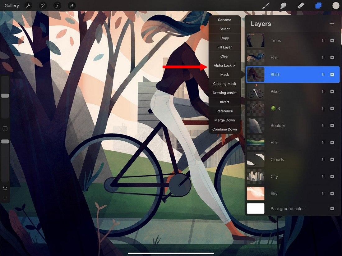 procreate-alpha-lock 5 Procreate Tips for Pro iPad Design design tips