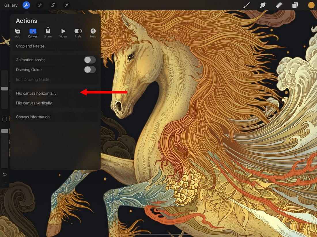 procreate-flip-canvas 5 Procreate Tips for Pro iPad Design design tips