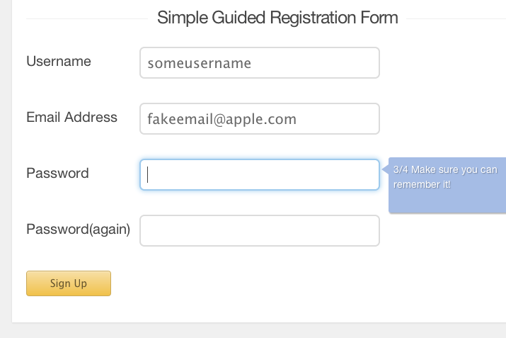 tutorial screenshot progressionjs guided registration form