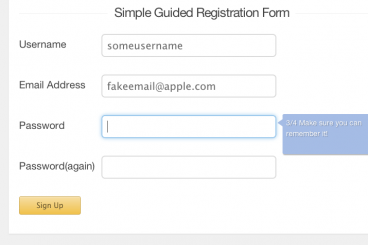 Build a Guided Registration Form With jQuery and Progression.js