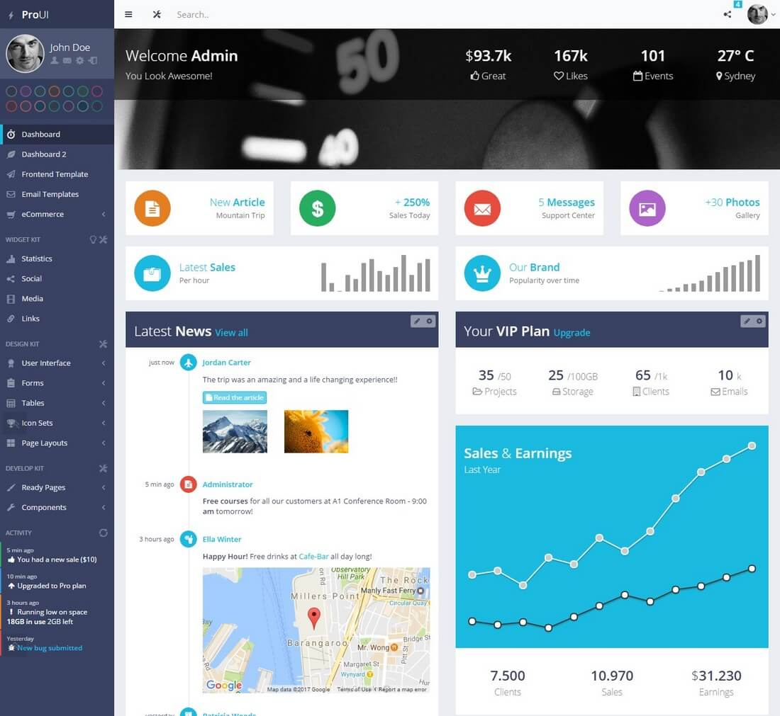 proui 40+ Best Bootstrap Admin Templates of 2019 design tips