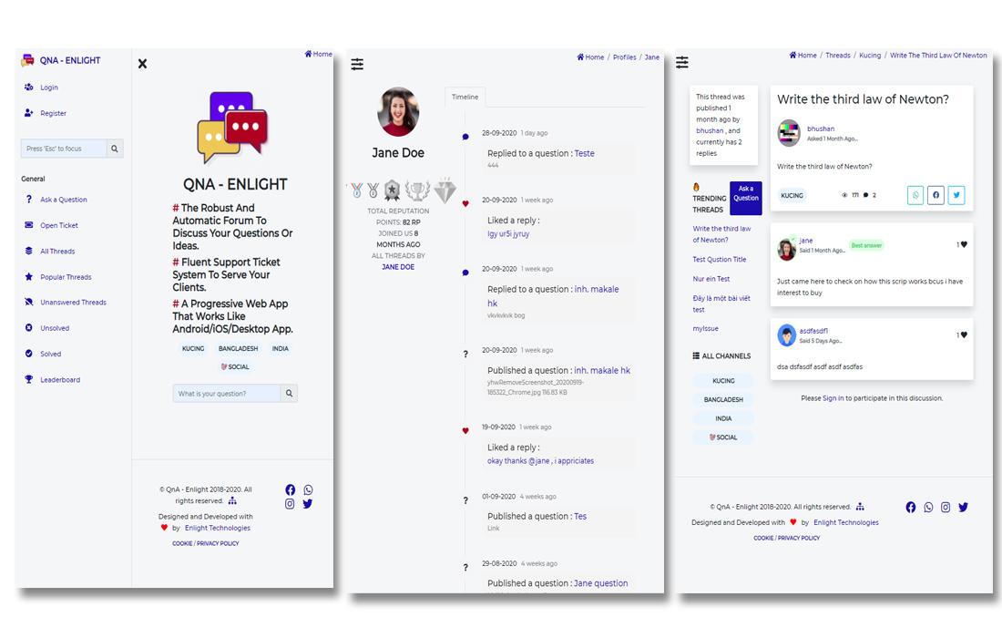 qna-enlight 10+ Best Progressive Web App (PWA) Templates 2020 design tips