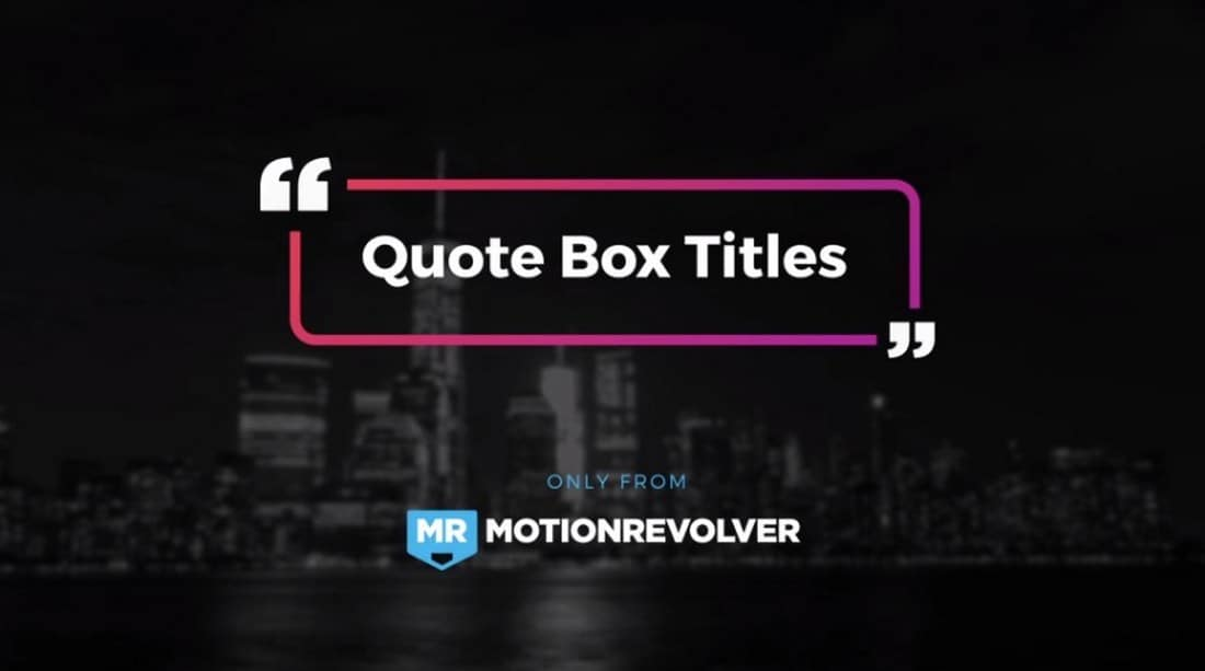 quote box-after-effects-title-template