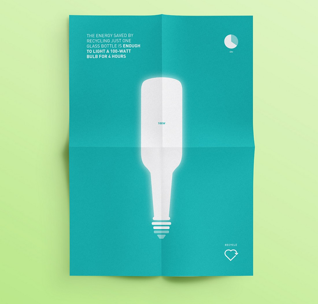 recycle-poster 10 Minimal Poster Design Examples (+10 Templates) design tips