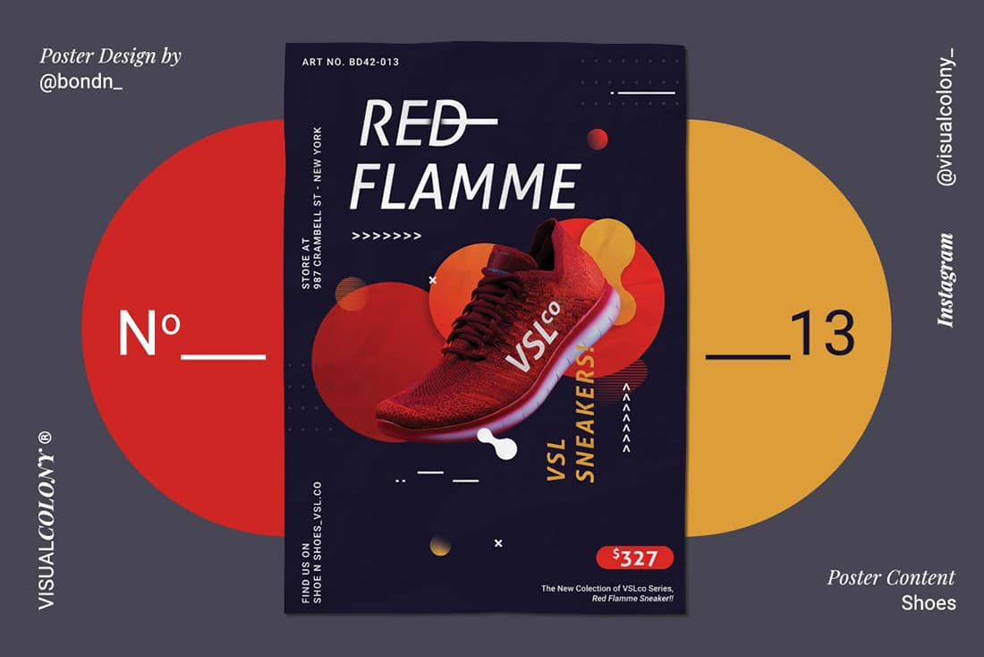 red-shoes-poster 20 Stylish Poster Color Schemes design tips