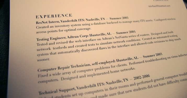 the bad - Resume Paper