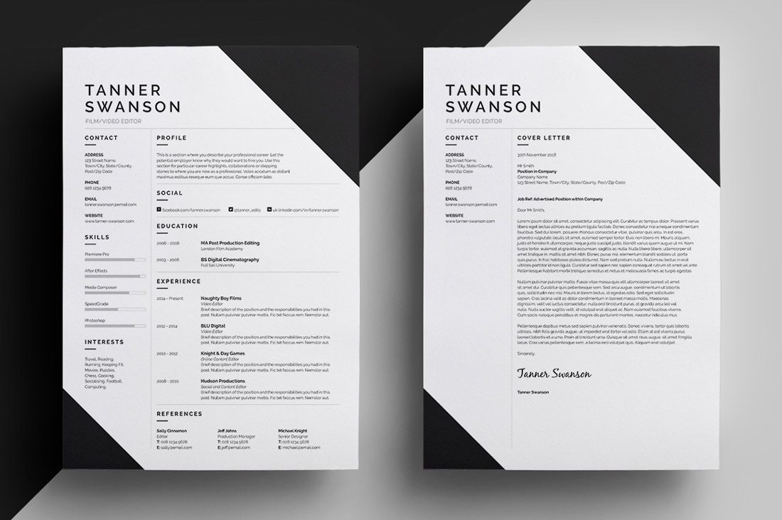 High Quality Resume Design  Resume For Designers