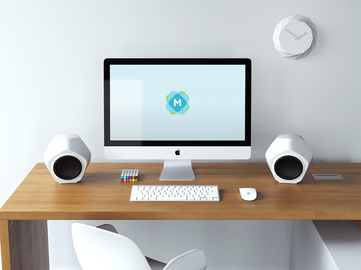retina-imac-creative-desk-mockup 40+ iMac Mockup PSDs, Photos & Vectors design tips