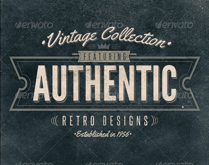 Retro Type Vintage Typographic Design Elements