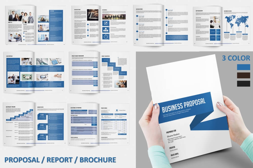 Modern Corporate Brochure Templates Design Shack - Indesign brochure template