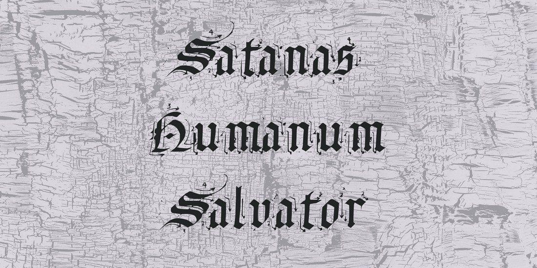 satanas-humanum-salvator-font 35+ Best Blackletter Fonts design tips