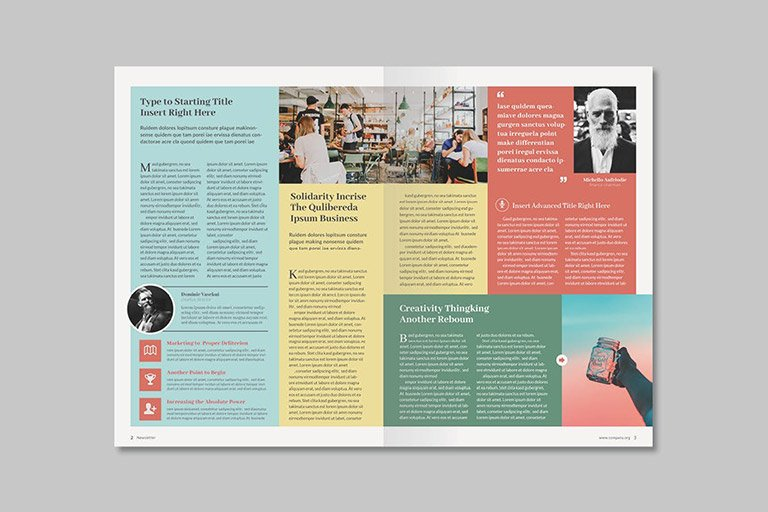 creative newsletter design templates free download